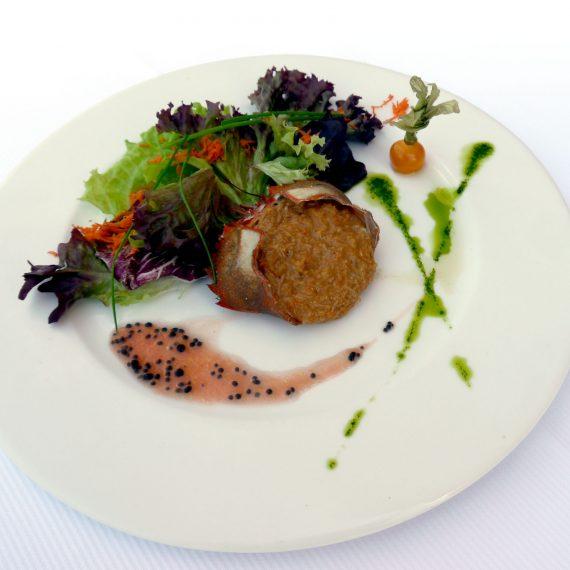 Platos del menú de Atxega Jauregia